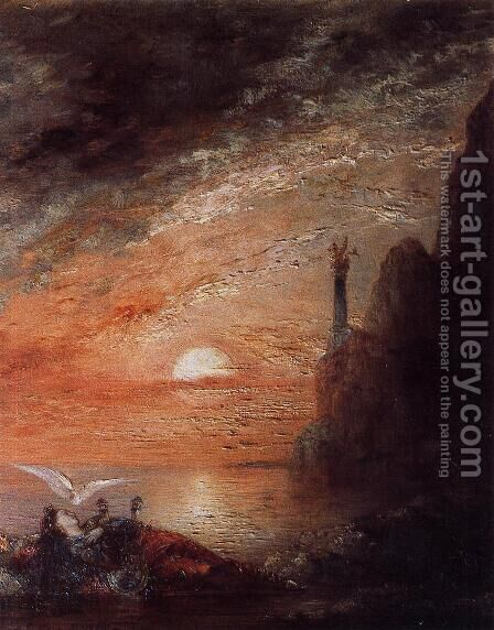 The Death of Sappho I by Gustave Moreau - Reproduction Oil Painting