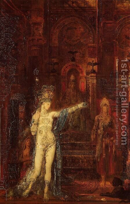 The Tatooed Salome by Gustave Moreau - Reproduction Oil Painting