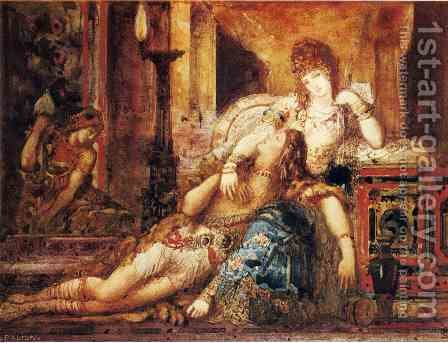 Samson and Dalila by Gustave Moreau - Reproduction Oil Painting