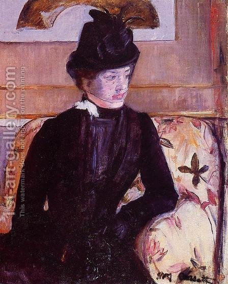 Mrs. Gardner Cassatt in Black by Mary Cassatt - Reproduction Oil Painting