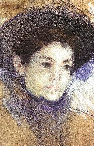 Portrait of a Woman II by Mary Cassatt - Reproduction Oil Painting