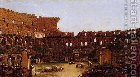Interior of the Colosseum, Rome by Antoine-Felix Boisselier - Reproduction Oil Painting
