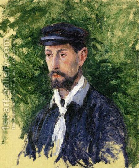 Bust Portrait of Eugene Lamy by Gustave Caillebotte - Reproduction Oil Painting