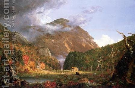 The Notch of the White Mountains by Charles DeWolf Brownell - Reproduction Oil Painting