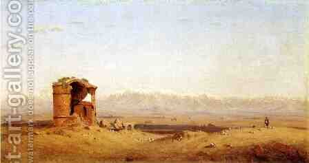Torre dei Schiavi - Roman Campagna by Sanford Robinson Gifford - Reproduction Oil Painting