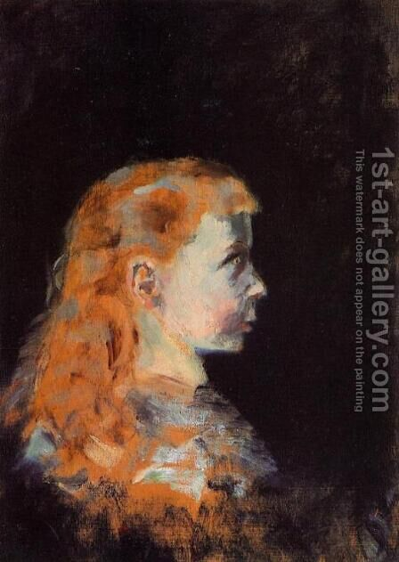 Portrait of a Child by Toulouse-Lautrec - Reproduction Oil Painting