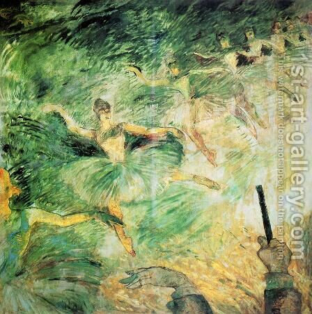 Ballet Dancers by Toulouse-Lautrec - Reproduction Oil Painting
