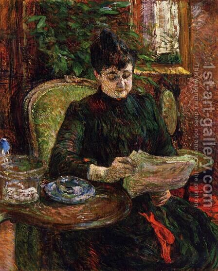 Madame Aline Gibert by Toulouse-Lautrec - Reproduction Oil Painting