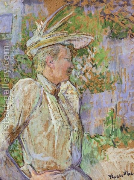 Gabrielle the Dancer by Toulouse-Lautrec - Reproduction Oil Painting