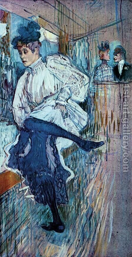 Jane Avril Dancing 2 by Toulouse-Lautrec - Reproduction Oil Painting