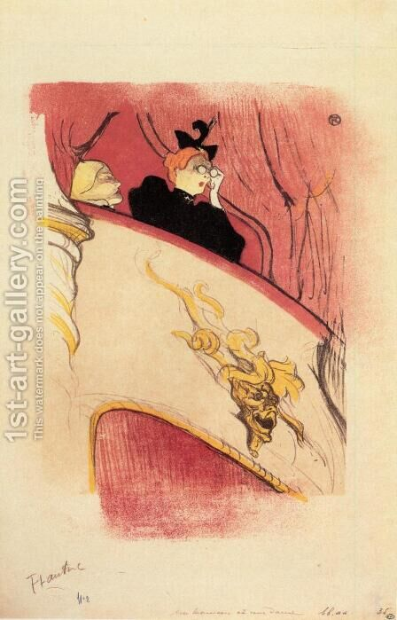 The Box with the Guilded Mask by Toulouse-Lautrec - Reproduction Oil Painting
