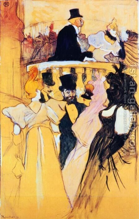 At the Opera Ball by Toulouse-Lautrec - Reproduction Oil Painting