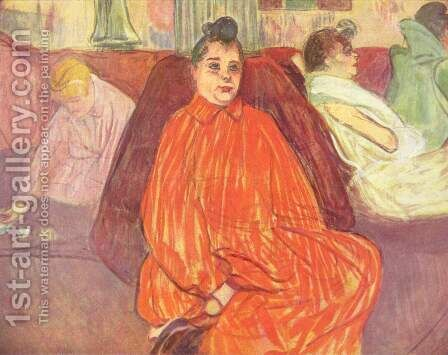 At the Salon, the Divan by Toulouse-Lautrec - Reproduction Oil Painting