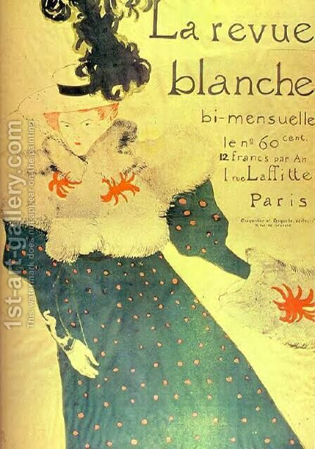 La Revue Blanche 2 by Toulouse-Lautrec - Reproduction Oil Painting