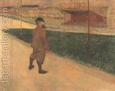 Tristan Bernard at the Buffalo Station by Toulouse-Lautrec - Reproduction Oil Painting