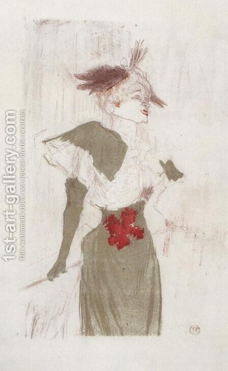 Mademoiselle Marcelle Lender, Standing by Toulouse-Lautrec - Reproduction Oil Painting