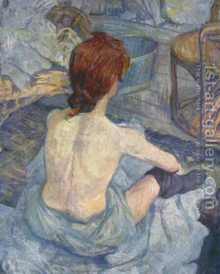 Woman at Her Toilette I by Toulouse-Lautrec - Reproduction Oil Painting