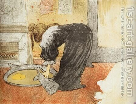 Elles: Woman with a Tub by Toulouse-Lautrec - Reproduction Oil Painting