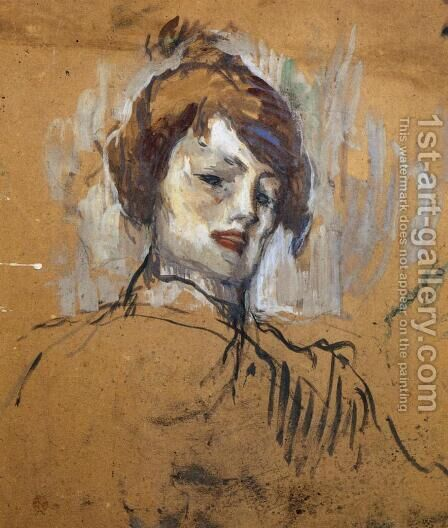 Head of a Woman by Toulouse-Lautrec - Reproduction Oil Painting