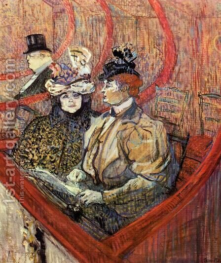 The Grand Tier by Toulouse-Lautrec - Reproduction Oil Painting