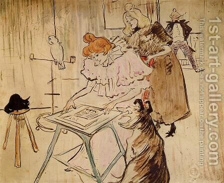 The Motograph by Toulouse-Lautrec - Reproduction Oil Painting