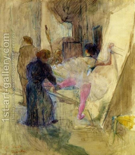 Behind the Scenes by Toulouse-Lautrec - Reproduction Oil Painting