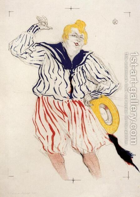 The Sailor's Sopng, at the 'Star', Le Havre by Toulouse-Lautrec - Reproduction Oil Painting
