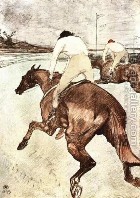 The Jockey 2 by Toulouse-Lautrec - Reproduction Oil Painting