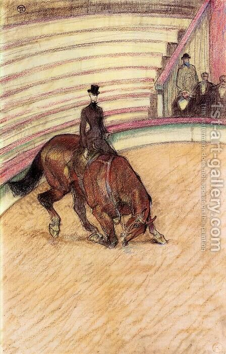 At the Circus: Dressage by Toulouse-Lautrec - Reproduction Oil Painting
