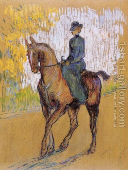Side-Saddle by Toulouse-Lautrec - Reproduction Oil Painting