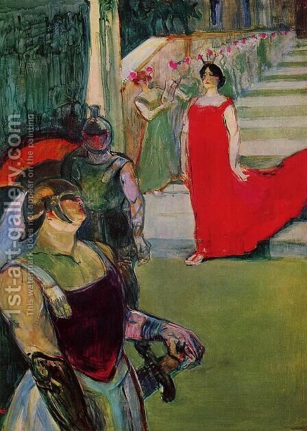 Scenes from 'Messaline' at the Bordeaux Opera by Toulouse-Lautrec - Reproduction Oil Painting