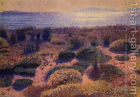 Plage de la Vignassa by Henri Edmond Cross - Reproduction Oil Painting
