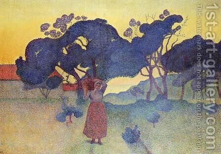 The Farm, Evening by Henri Edmond Cross - Reproduction Oil Painting