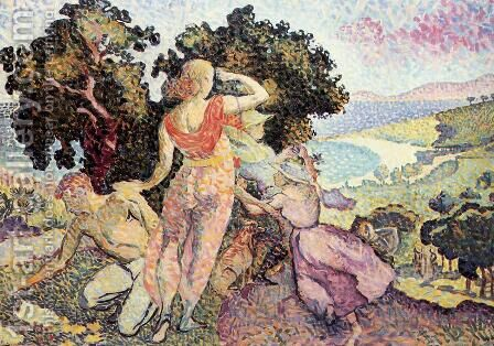 Study for 'Excuirsion' by Henri Edmond Cross - Reproduction Oil Painting
