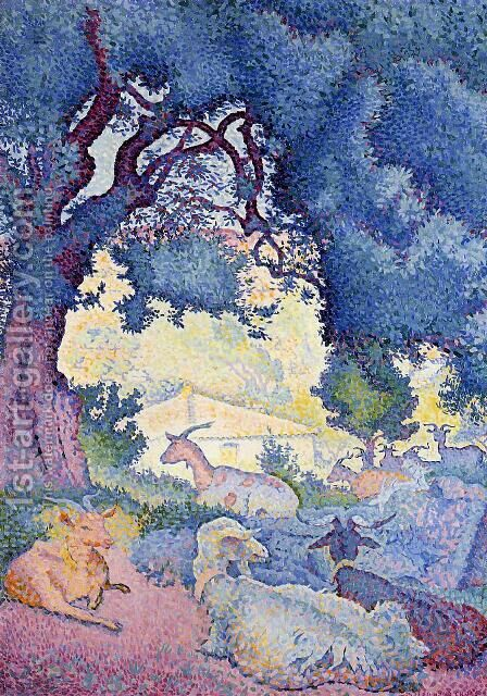 Goats by Henri Edmond Cross - Reproduction Oil Painting