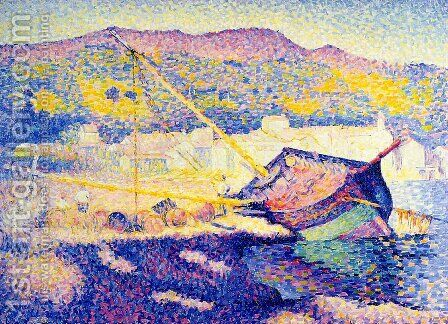 The Blue Boat by Henri Edmond Cross - Reproduction Oil Painting