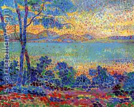 Provence Landscape I by Henri Edmond Cross - Reproduction Oil Painting
