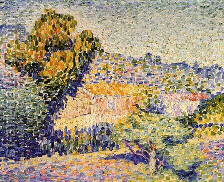 The Pink House by Henri Edmond Cross - Reproduction Oil Painting