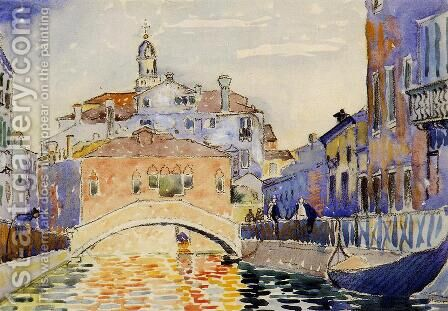 Venetian Canal by Henri Edmond Cross - Reproduction Oil Painting