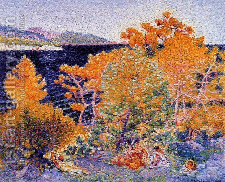 Siesta by the Water by Henri Edmond Cross - Reproduction Oil Painting