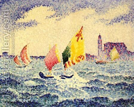 Sailboats near Chicago by Henri Edmond Cross - Reproduction Oil Painting