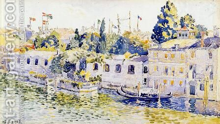 Venice, Palazzo Venier dei Leoni by Henri Edmond Cross - Reproduction Oil Painting