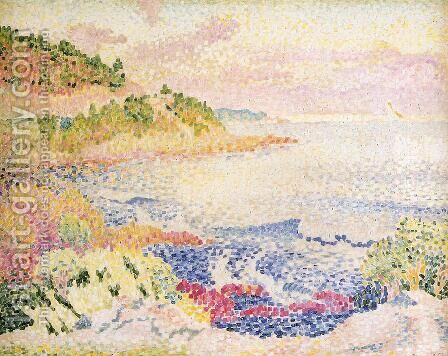 Coast of Provence, Le Four des Maures by Henri Edmond Cross - Reproduction Oil Painting