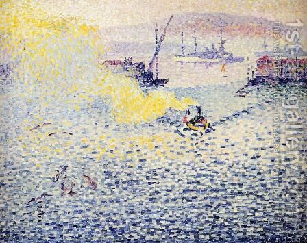 Toulon, Winter Morning by Henri Edmond Cross - Reproduction Oil Painting