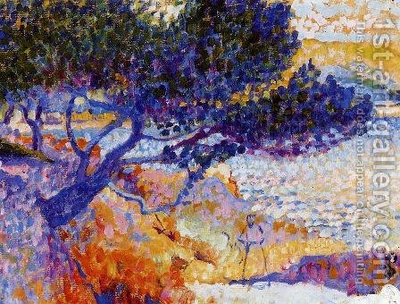 The Bay of Cavaliere (study) by Henri Edmond Cross - Reproduction Oil Painting