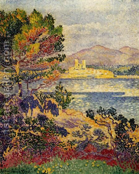 Antibes, Morning by Henri Edmond Cross - Reproduction Oil Painting