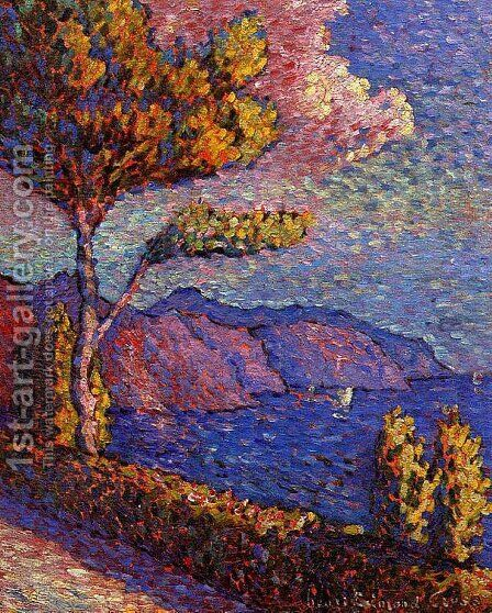 The Canal near St. Tropez by Henri Edmond Cross - Reproduction Oil Painting