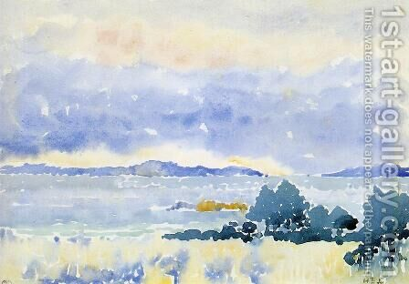 Land by the Sea by Henri Edmond Cross - Reproduction Oil Painting