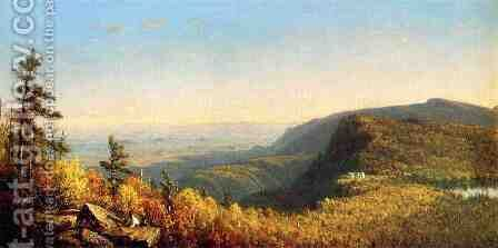 The Catskill Mountain House by Sanford Robinson Gifford - Reproduction Oil Painting