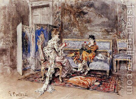 The Conversation by Giovanni Boldini - Reproduction Oil Painting